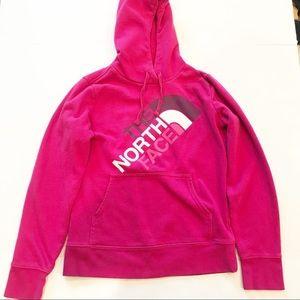 North Face Retro Hot pink Hooded Sweatshirt